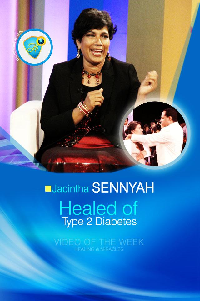 Healed of diabetes