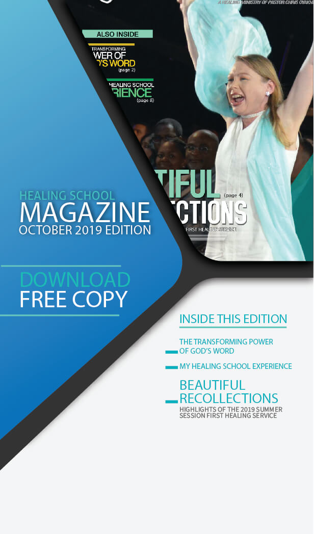 The Healing School Magazine - October 2019 Edition